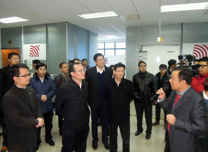 东莞市市长袁宝成一行到访东莞标检