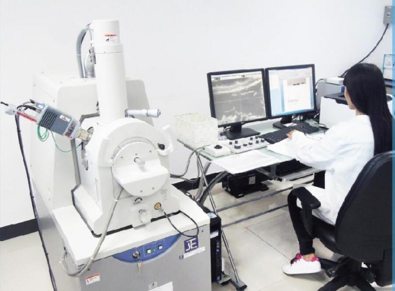 东莞标检投资百余万引进扫描电子显微镜(SEM)检测设备