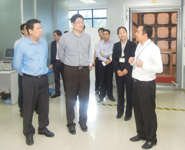 东莞市检验检疫局局长一行到访东莞标检