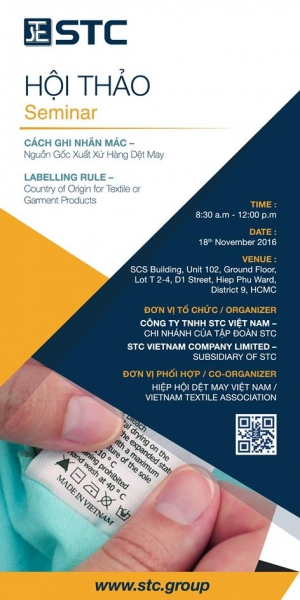 Labelling Rule – Country of Origin for Textile or Garment Products Seminar